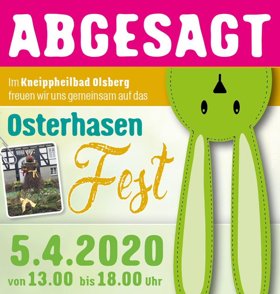 Osterhasenfest Absage